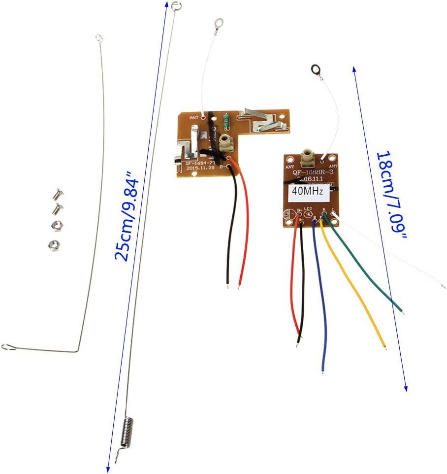 MIKI-Z 4CH 40MHZ Transmisor Remoto y Placa receptora con ...