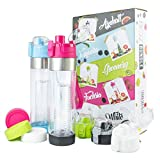BOZ Fruit Infuser Water Bottle Limited Edition Bundle   BPA-Free, Infused Hydration Sport