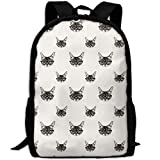 YIXKC Backpack for Adults Hiking Kitten Head Glasses Durable Travel Daypacks