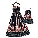 Set of Summer Mother Daughter Beach Dress Set Travel Family Matching Dress