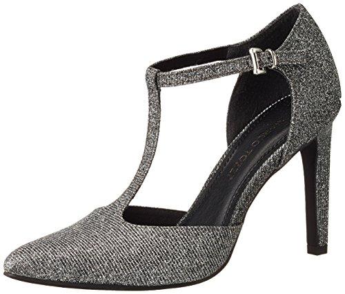 Marco Tozzi 24401 - Zapatos de Tacón Mujer Gris (Anthracite Met 239)