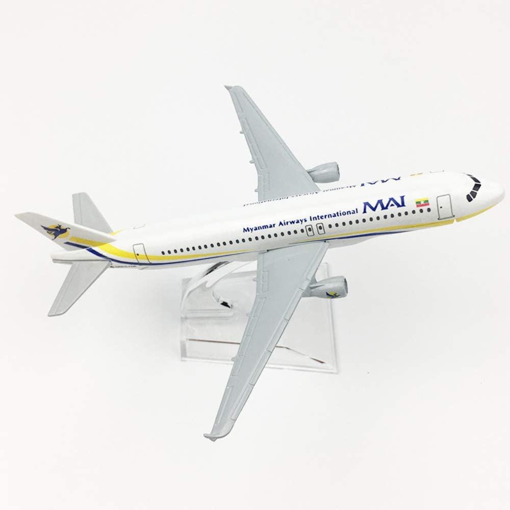 NUOLANDE 1//400 Scale Metal Aircraft Model Aircraft Model 16CM Myanmar 320 Airplane Model Collection Or Gift