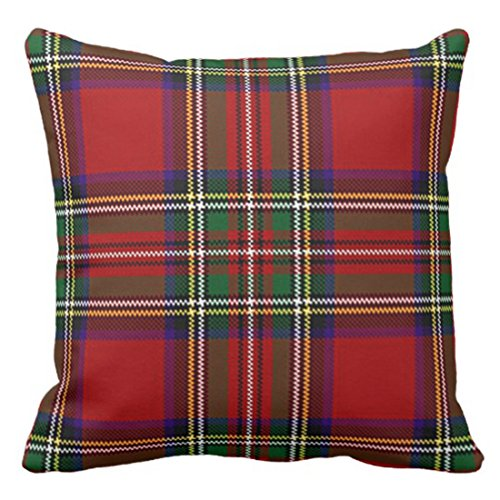 Outdoor Holiday Pillow (Emvency Throw Pillow Cover Red Plaid Design Outdoor Decorative Pillow Case Home Decor Square 20x20 Inch Cushion Pillowcase)