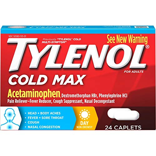 Tylenol Cold Multi-Symptom Relief Caplets, 24 Caplets