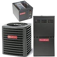 GOODMAN AIR CONDITIONER 2.5 TON 16 SEER 80% AFUE 80,000 BTU GOODMAN GAS FURNACE SYSTEM HORIZONTAL- GSX160301 / CHPF3743C6 / GMVC80805CN