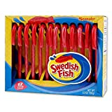 #4: Swedish Fish Candy Canes 12 Pack