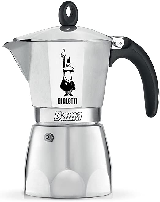 Bialetti Moka Dama Cafetera Italiana Espresso, 6 Tazas, Aluminio ...