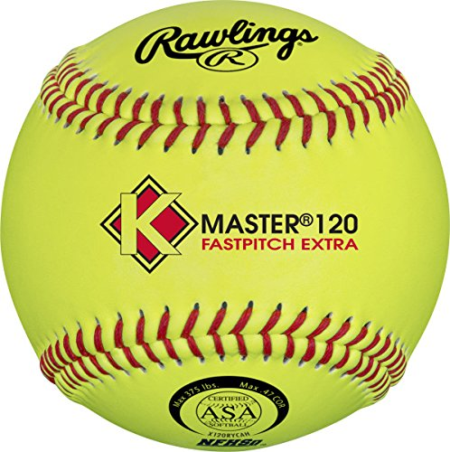 Rawlings Official NFHS K-Master Fastpitch Softball, 12 Count, X120RYCAH ()