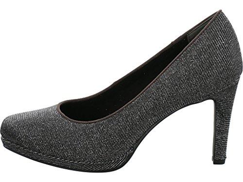 Marco Tozzi 22450, Zapatos de Tacón para Mujer Gris (Dk.grey Met.)