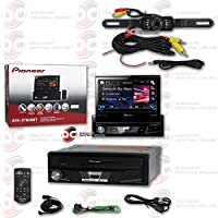 Pioneer AVH-X7800BT 1-DIN 7 Motorized Touchscreen Flip-out Car Multimedia DVD CD receiver with Bluetooth Pandora link & Remote + Back-up Water Proof and Night Vision Camera