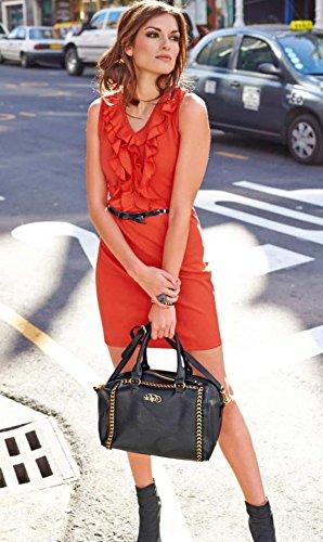 Mujer Aniston Opaco Para Rojo Vestido vcPqRPxAw