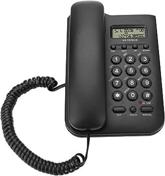 ASHATA Telefono Fijo FSK/DTMF,Teléfono Fijo con Cable, Telefono ...