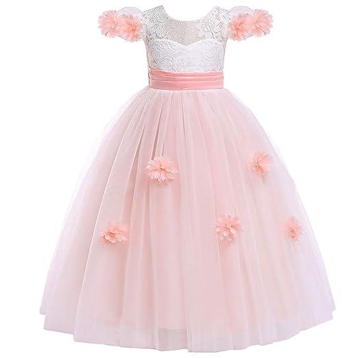 Vestido Falda De Encaje Boda Niña De Las Flores Fashion Vestido,B ...