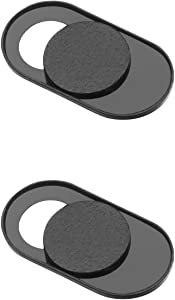 KAILIMENG Webcam Cover Slide, Ultra-Thin Sliding Privacy Sticker Covers for Computer Tablet, MacBook, iMac, iPad, iPhone 6/7/8 Plus and Phone with Regular Webcams (2 Pack, Metal Magnet)