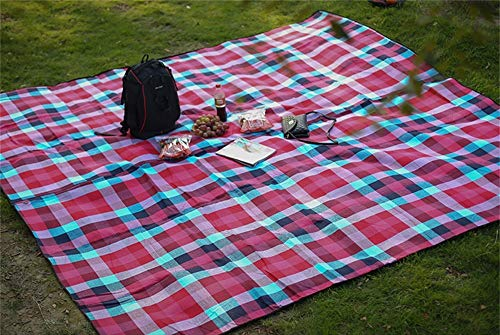 BBG Family Travel Camping Blanket-Outdoor Large Picnic Blanket Acrylic Multiplayer Thick Widen Waterproof Tent Camping Mat 300X300Cm,Fashion Grid
