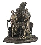 Palm Sunday, Jesus Riding Into Jerusalem On A Donkey, Cold Cast Bronze Statue Figurine