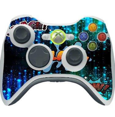 Smash Splash Wow Fun Pattern Xbox 360 Wireless Controller Vinyl Decal Sticker Skin by Trendy Accessories