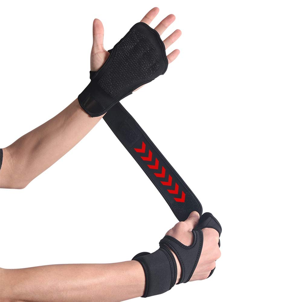 Breathable Fitness Gloves Silica Gel Palm Hollow Back Gym Weight Lifting GlovL/_D