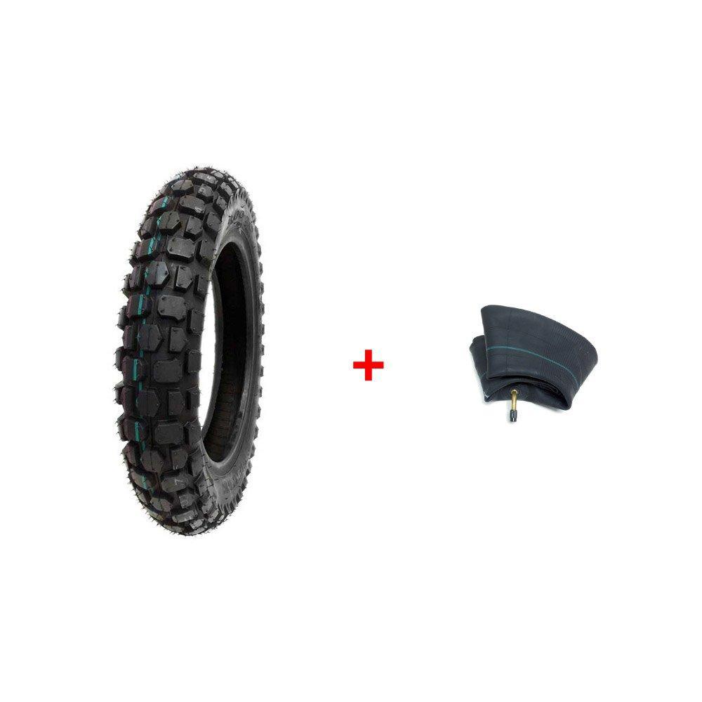 COMBO: Off Road Knobby TIRE Size 3.00-12 + INNER TUBE Size 3.00/3.50-12 TR87 Valve Stem