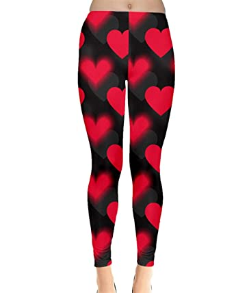 65293c8336ab3 CowCow Womens Love Heart Shapes Sweet Stretch Long Leggings at ...