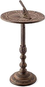 SPI Home Antiqued Sundial on Stand