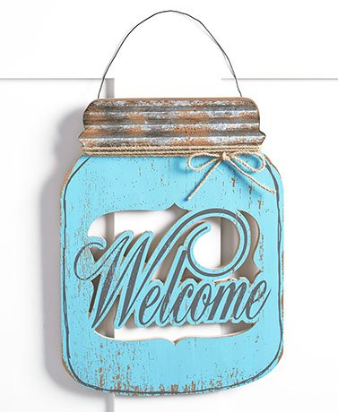 Mason Jar Door Hangers (Welcome)