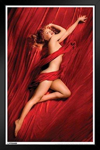 Pyramid America Marilyn Monroe Red Velvet Framed Poster 14x20 inch