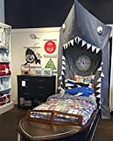 Aodicon COOL Kids Canopy Crib Canopy Reading Nook Canopy - 280cm/9.2feet,BIG SHARK Cotton Bed canopy