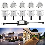 FVTLED Low Voltage set of 10 LED Floor lights Stairs Home Garden Decoration Light IP67 Waterproof Outdoor Patio Deck Lamps Landscape lighting (Warm White)
