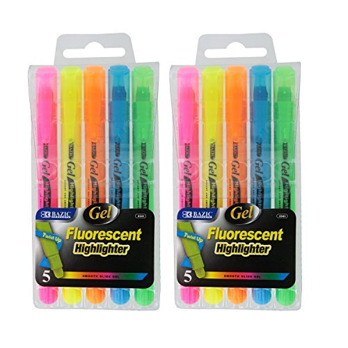 Bazic Fluorescent Highlighters Assorted Colors
