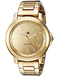 Tommy Hilfiger Womens SPORT Quartz and Stainless-Steel Casual Watch, Color:Gold-Toned (Model: 1781751)