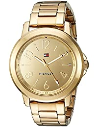 Womens Sport Quartz Gold-Tone-Stainless-Steel Casual Watch, Color: