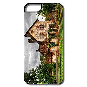 IPhone 5/5S Hard Plastic Cases, Country House White/black Cases For IPhone 5/5S