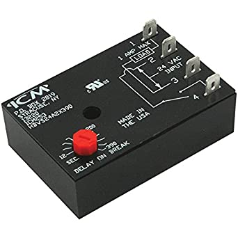amazon com icm controls icm253 fan delay timer 12 390 seconds rh amazon com Time Delay Off Relay How Time Delay Relays Work