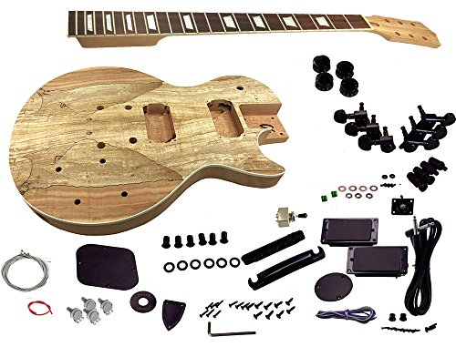 Solo LPK-75B DIY Electric Guitar Kit With Spalted Maple Top & Bolt On Neck