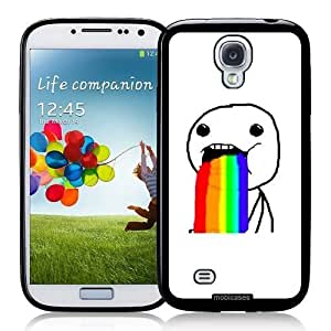 Cool Painting Meme Puking Rainbows LOL Funny - Protective Designer BLACK Case - Fits Samsung Galaxy S4 i9500