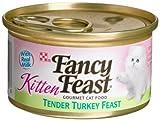 Fancy Feast Gourmet Kitten Food, Tender Turkey Feast, 3-Ounce Cans (Pack of 24), My Pet Supplies