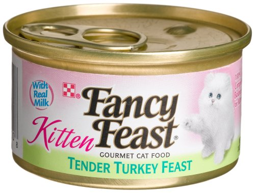 Purina Fancy Feast Tender Turkey Feast Wet Kitten Food 3 Oz
