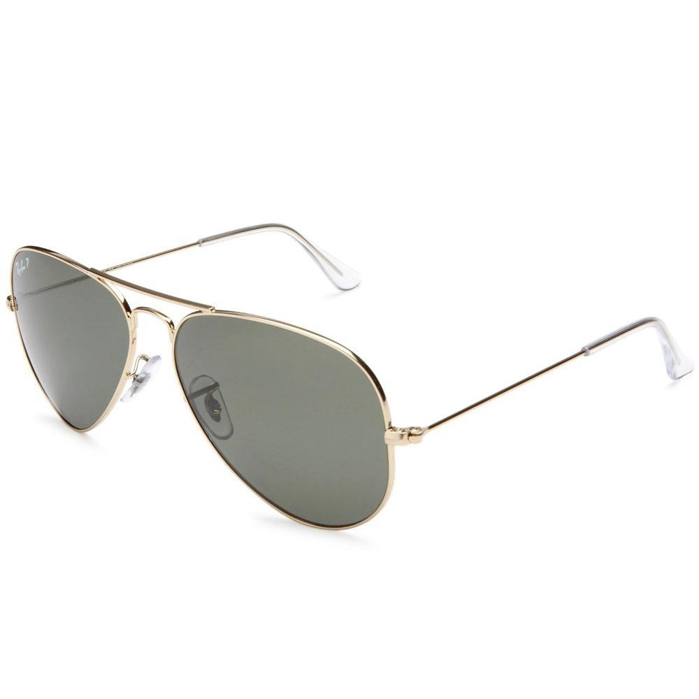 e91521c46ce Amazon.com  Ray Ban RB3025 001 58 58 Gold Green Polarized Large Aviator  Bundle-2 Items  Shoes