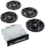Pioneer DEH-X6900BT Single DIN Bluetooth In-Dash CD/AM/FM Car Stereo with (2 PAIRS) JVC