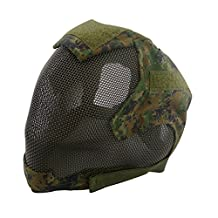 V6 High Quality Steel Net Mesh Fencing Cosplay Mask Full Cover Face Protective Tactical Military Paintball Mask