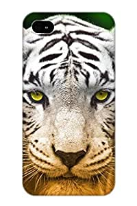meilinF000Animal White Tiger Abstract Hd Cool Tiger Tigress Ferocious Colorful Snow Case Compatible With ipod touch 4/ Hot Protection Case(best Gift Choice For Lovers)meilinF000