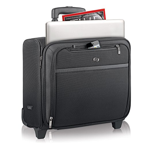 Solo Dakota 16 Inch Rolling Laptop Case with Overnighter Section, Black by SOLO (Image #4)