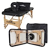 STRONGLITE Portable Massage Table Package Olympia - All-In-One Treatment Table w/ Adjustable Face Cradle, Pillow, Half Round Bolster & Carrying Case (28''x73'')
