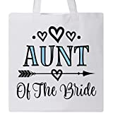Inktastic - Aunt Of The Bride Wedding Party Tote Bag White 2dd8c