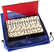 Dominoes Tournament, Jumbo Double 6, w/Blue Mesh Carry Pouch
