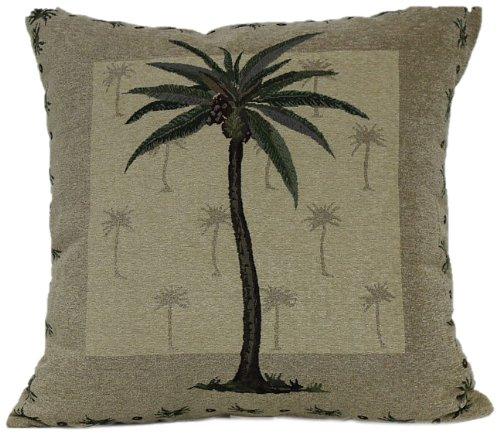 Brentwood 8035 Panama Jacquard Floor Cushion, Palm Tree, 25-Inch