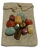 Plusvalue Abundance Healing Crystal Bag for Prosperity (Multicolour)