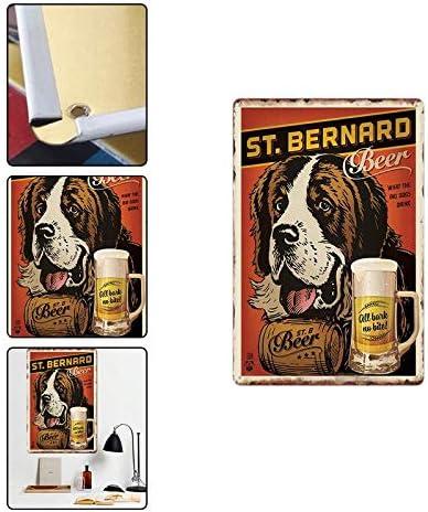 20 * 30cm Emorias 1Pcs Plaque en Metal Poster Mural R/étro Beer pour Cafe Home Bar Sticker Mural de D/écoration Mat/ériel M/étal