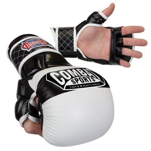 Combat Sports Max Strike MMA Training Gloves (White, Regular) B015279OZM